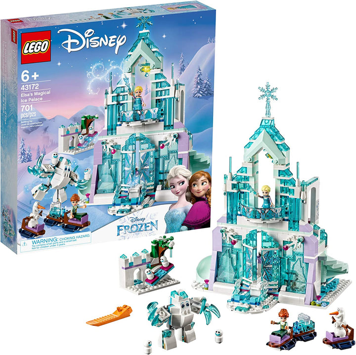 LEGO Disney Princess Elsa's Magical Ice Palace - Playset with Popular Frozen Characters including Elsa, Olaf, Anna and more (701 Pieces)