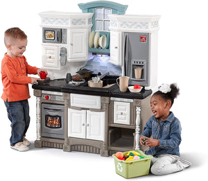 Step2 Lifestyle Dream Kitchen | Toy Play Kitchen with 37-Pc Accessories Set