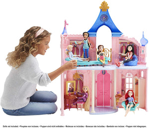 Disney Princess Castle, Doll House and 16 Accessories with 6 Pieces of Furniture