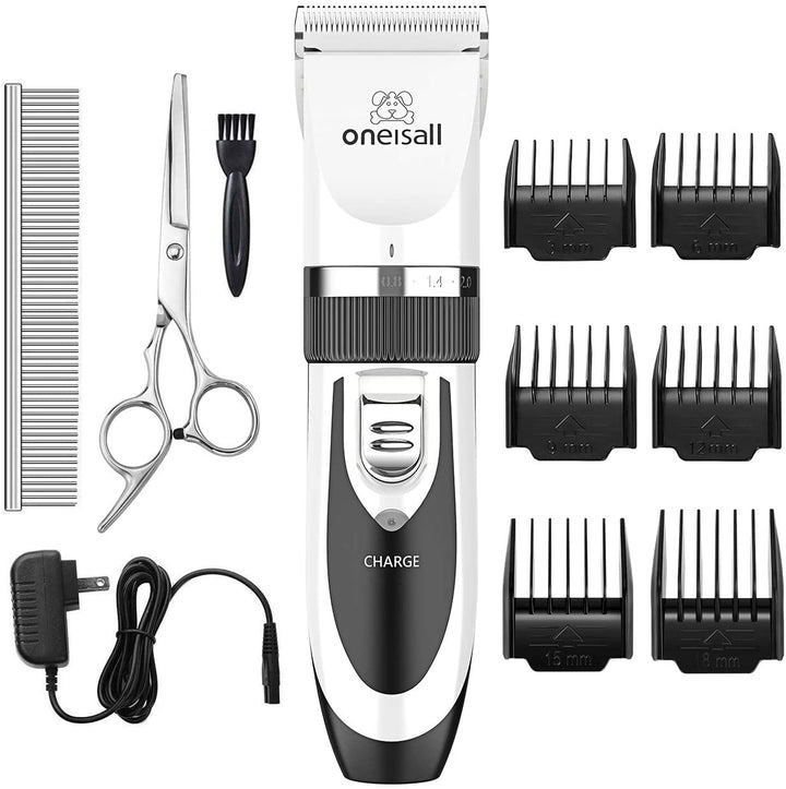 Dog Shaver Clippers Low Noise Rechargeable Cordless Electric Hair Clippers Set for Dogs & Cats