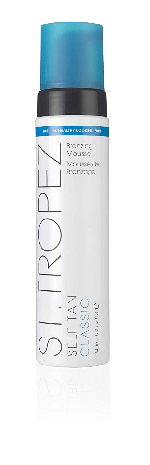 St. Tropez Self Tan Classic Bronzing Mousse for a Sunkissed Glow, 100% Natural Self Tanning Active Cream, 8 Fl Oz