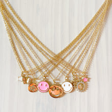 Load image into Gallery viewer, Happy Face Pendant Necklace - Pink