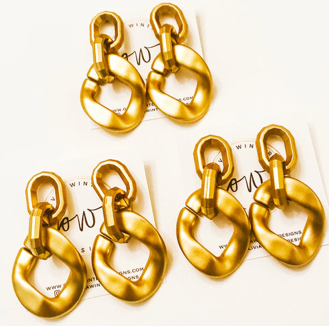 Chainlink Gold Earring