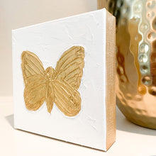 Load image into Gallery viewer, Gold Butterfly Canvas Art