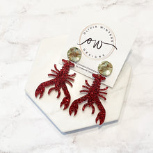 Load image into Gallery viewer, Crawfish Acrylic Earrings