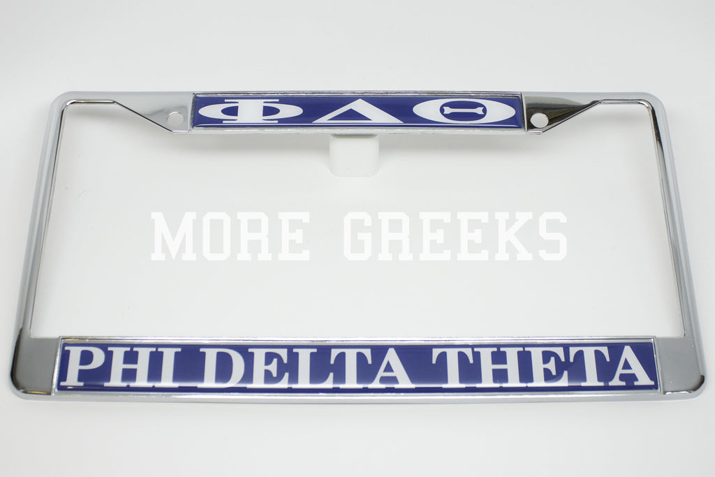 Phi Delta Theta License Plate Frame – More Greeks