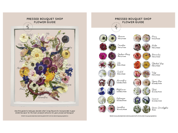 A guide to pressed flowers - fresh flowers compared to pressed flowers