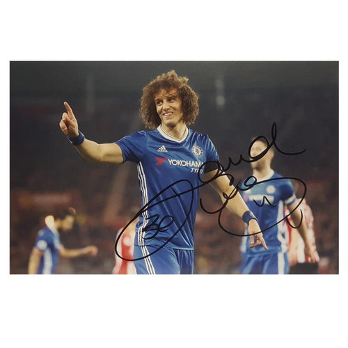 David Luiz signed Photo - Small