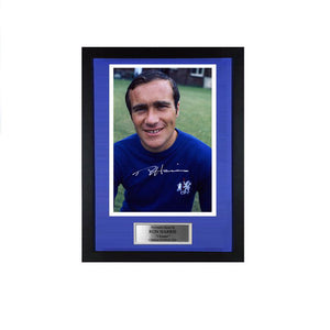 Ron 'Chopper' Harris Signed Chelsea FC Photo 1970 PRE-FRAMED