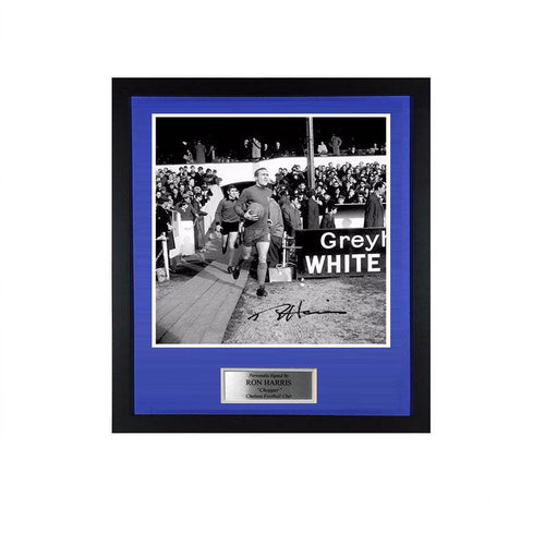 Ron Harris Signed FA Cup Fourth Round Photo - Chelsea v Preston PRE-FRAMED