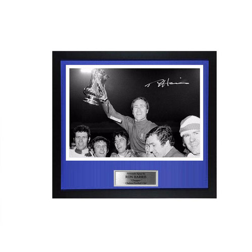 Ron Harris Signed FA Cup Final Replay Photo - Chelsea v Leeds PRE-FRAMED