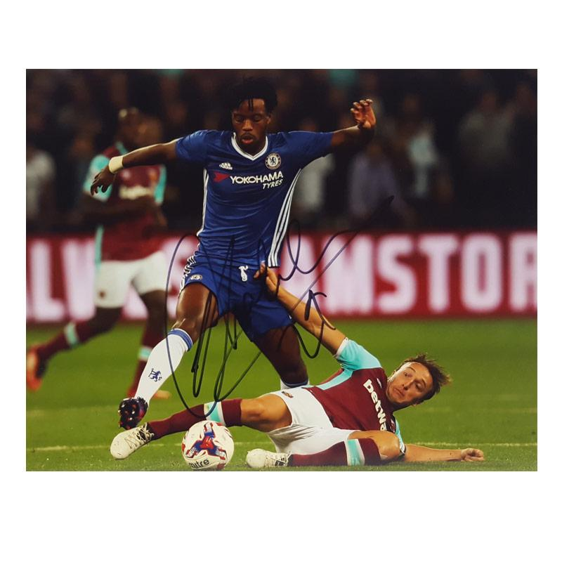 Chalobah Signed Photo vs Mark Noble - Small