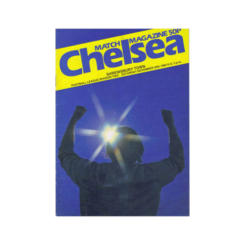 Chelsea FC vs Shrewsbury Programme 20 Nov 1982