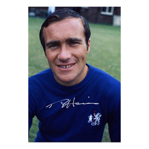 Ron 'Chopper' Harris Signed Chelsea FC Photo 1970
