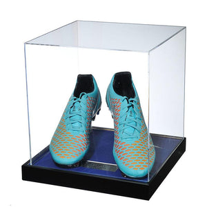 John Terry Signed Match Worn Blue Football Boots, 2014/2015 - Acrylic Case