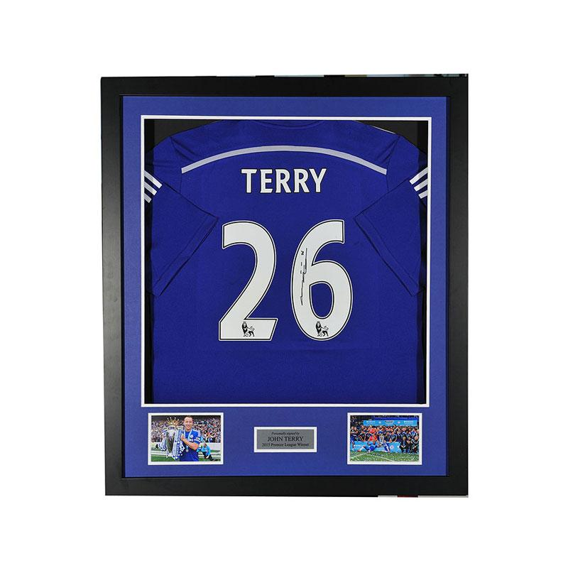 john terry signed, chelsea fc shirt