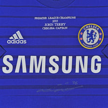 Load image into Gallery viewer, Close up of John Terry Signed Chelsea FC Shirt - 2014/2015