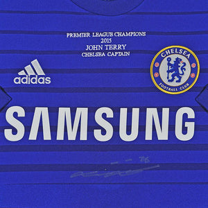 Close up of John Terry Signed Chelsea FC Shirt - 2014/2015