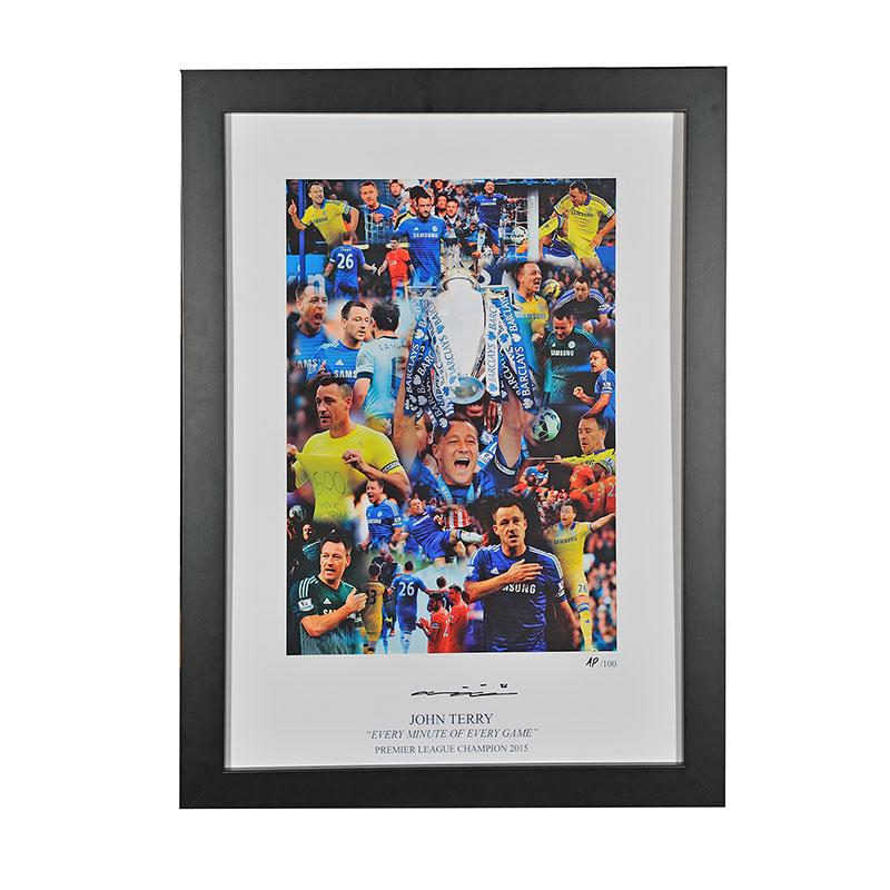 chelsea memorabilia for sale, signed montage