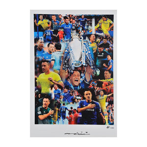 John Terry Signed Chelsea FC Montage, PRE-FRAMED