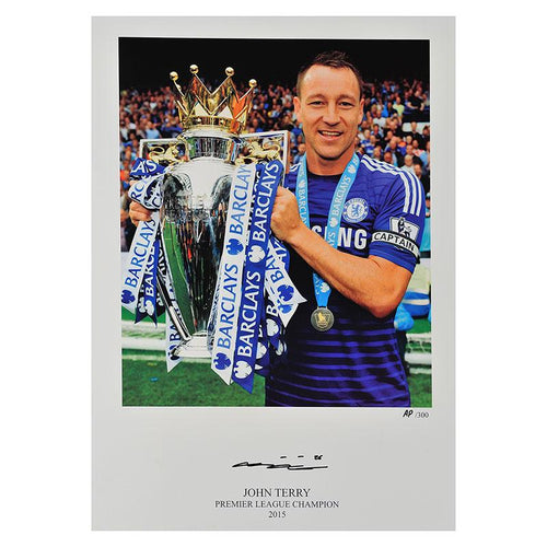 John Terry Signed Limited Edition Chelsea FC Photo - 2014/2015