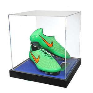 John Terry Signed Match Worn Green Football Boots 2014/2015 - Acrylic Case