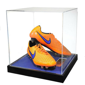 John Terry Signed Match Worn Orange Football Boots 2014/2015 - Acrylic Case