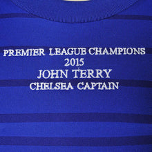 Load image into Gallery viewer, Close up of John Terry Signed Shirt embroidery