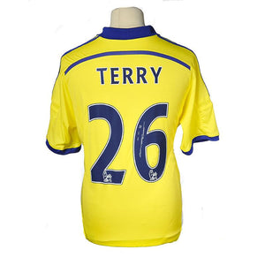 "John Terry Signed ""Terry 26"" Chelsea FC Away Shirt - 2014/2015 PRE-FRAMED"