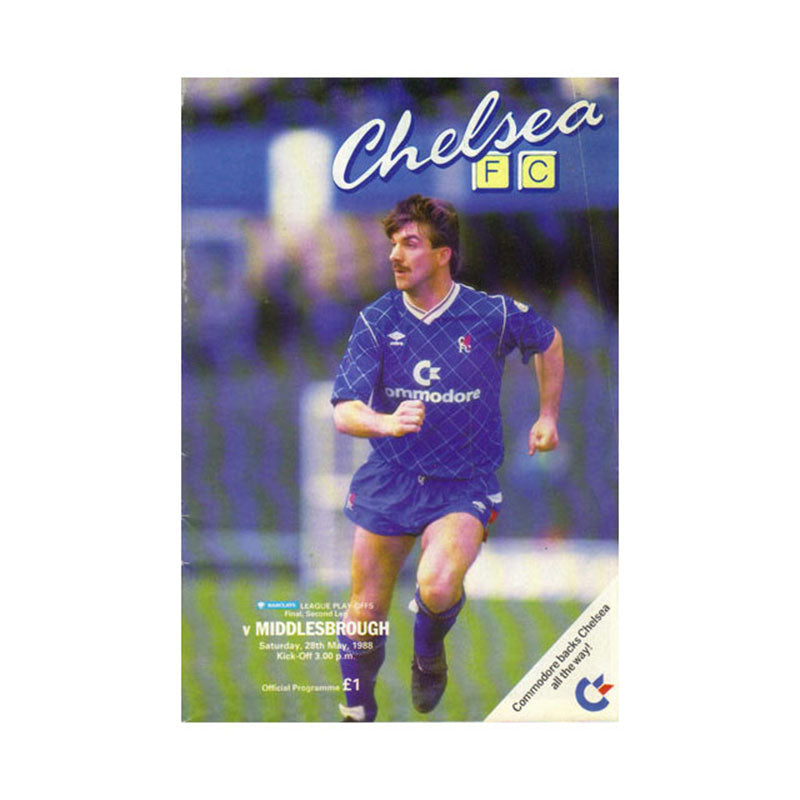 Chelsea FC vs Middlesbrough Programme 28 May 1988