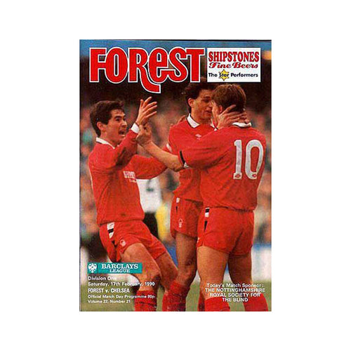 Notts Forest vs Chelsea FC Programme 17 Feb 1990