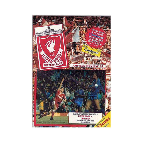 Liverpool vs Chelsea FC Programme 21 Apr 1990