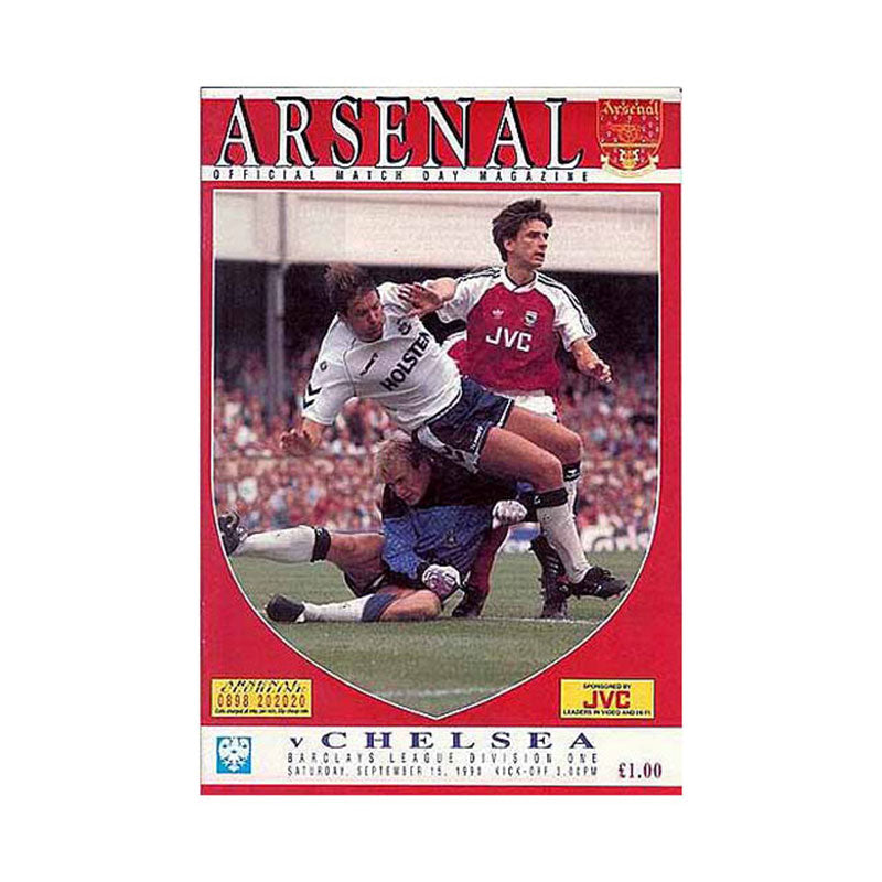 Arsenal vs Chelsea FC Programme 15 Sep 1990