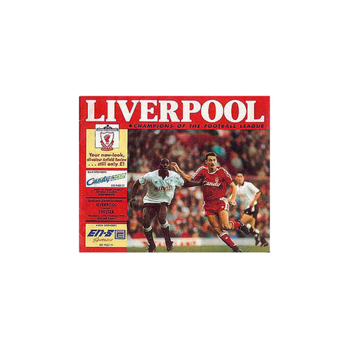 Liverpool vs Chelsea FC Programme 27 Oct 1990