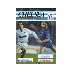 Chelsea FC vs Crystal Palace Programme 08 Dec 1990