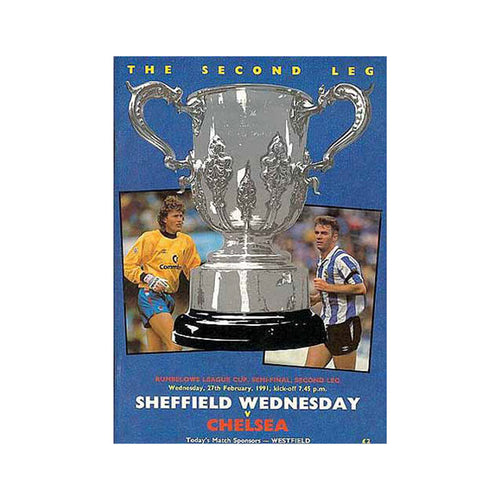 Sheffield Wed vs Chelsea FC Programme 27 Feb 1991