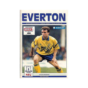 Everton vs Chelsea FC Programme 15 Apr 1991