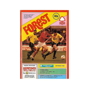 Notts Forest vs Chelsea FC Programme 20 Apr 1991