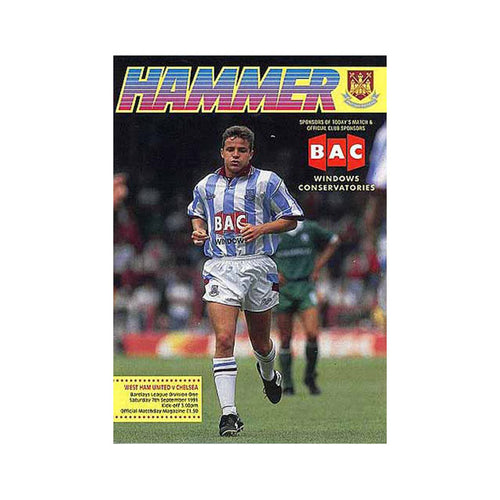 West Ham vs Chelsea FC Programme 07 Sep 1991