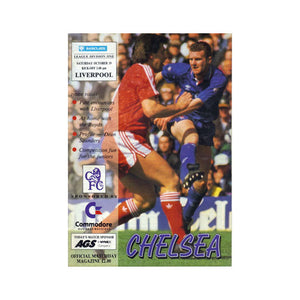 Chelsea FC vs Liverpool Programme 19 Oct 1991