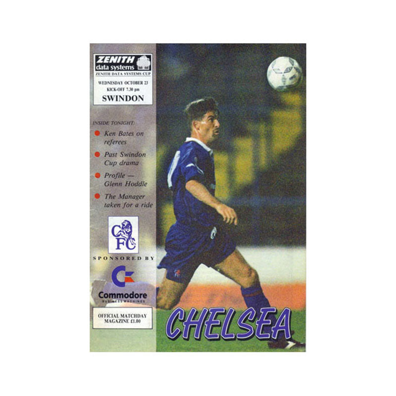Chelsea FC vs Swindon Programme 23 Oct 1991