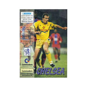Chelsea FC vs Crystal Palace Programme 08 Feb 1992