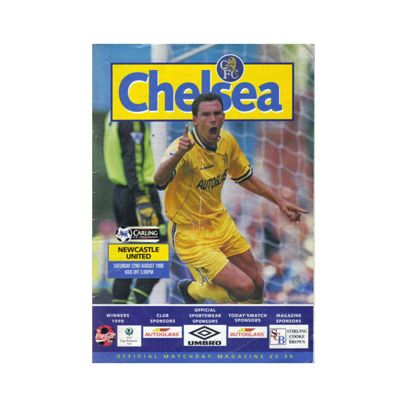 Chelsea FC vs Newcastle Programme 22 Sep 1998