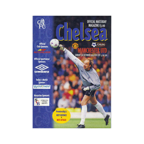 Chelsea FC vs Man Utd Programme 03 Oct 1999
