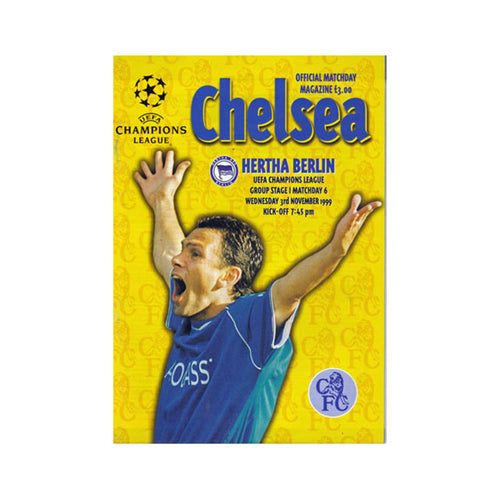 Chelsea FC vs Hertha Berlin Programme 03 Nov 1999