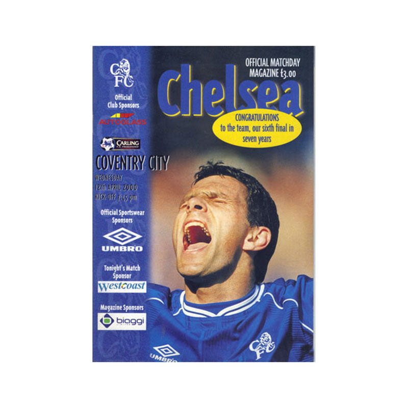 Chelsea FC vs Coventry Programme 12 Apr 2000