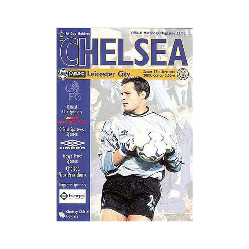 Chelsea FC vs Leicester Programme 17 Sep 2000