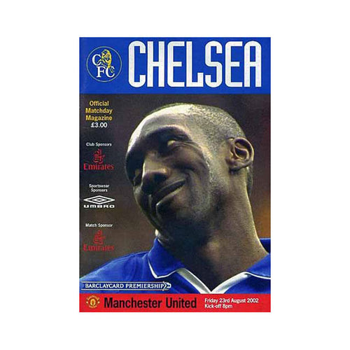 Chelsea FC vs Man Utd Programme 23 Aug 2002