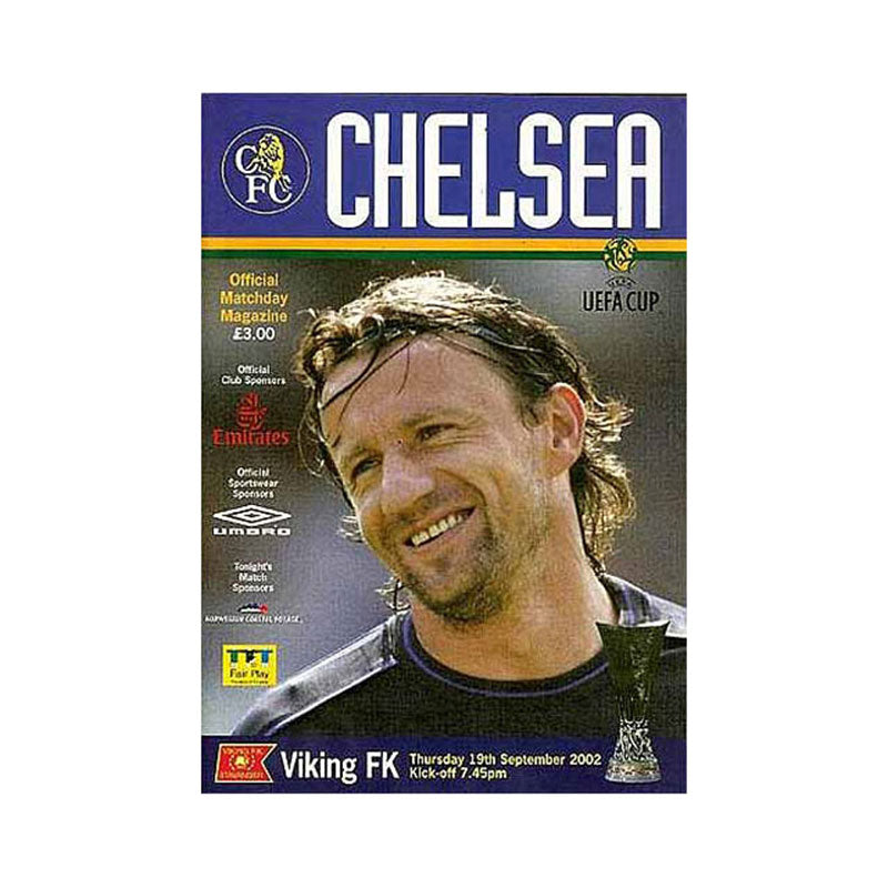 Chelsea FC vs Viking FK Programme 19 Sep 2002