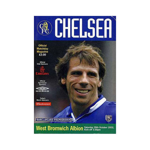 Chelsea FC vs West Brom Programme 26 Oct 2002